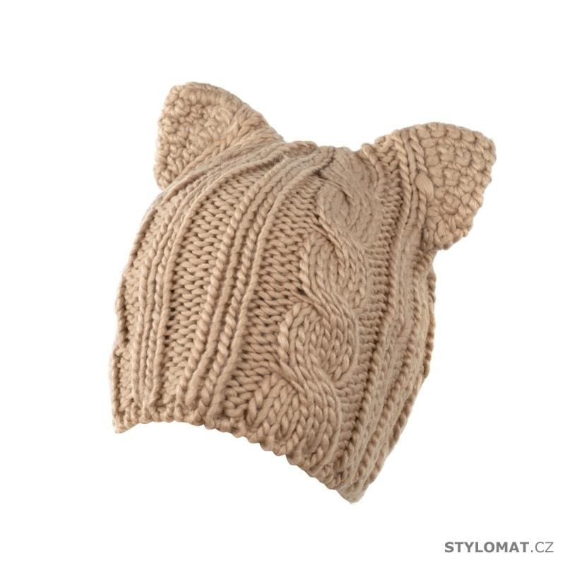 Čepice s ušima hnědá - Art of Polo - Teplé (zimní) 2bc403387f