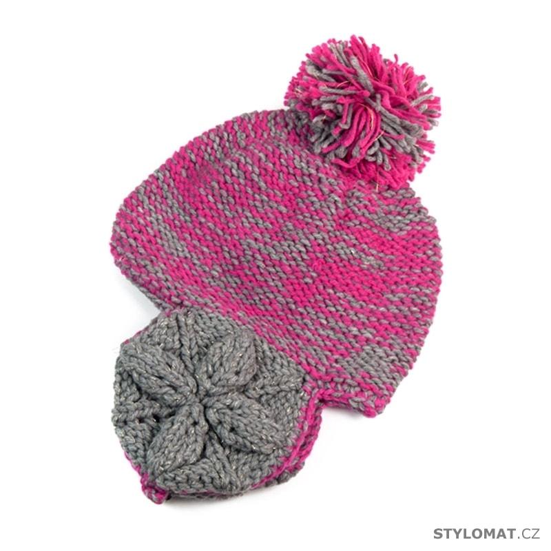 Růžová čepice s ušima - Art of Polo - Zimní dámské ušanky abd596b1da