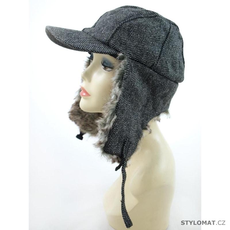 Ušanka s kšiltem šedá - Art of Polo - Zimní dámské ušanky fd00db817d