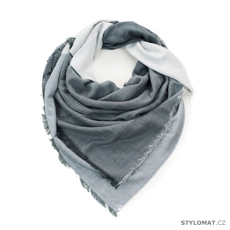 Bílo-šedý šál - Art of Polo - Dámské zimní šály 8a0f30b5be