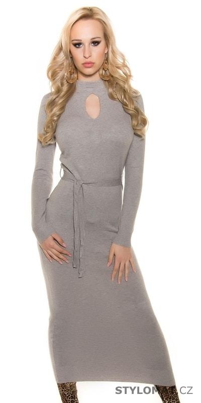 Dámské dlouhé úpletové šaty - Koucla - Úpletové šaty 011f319149