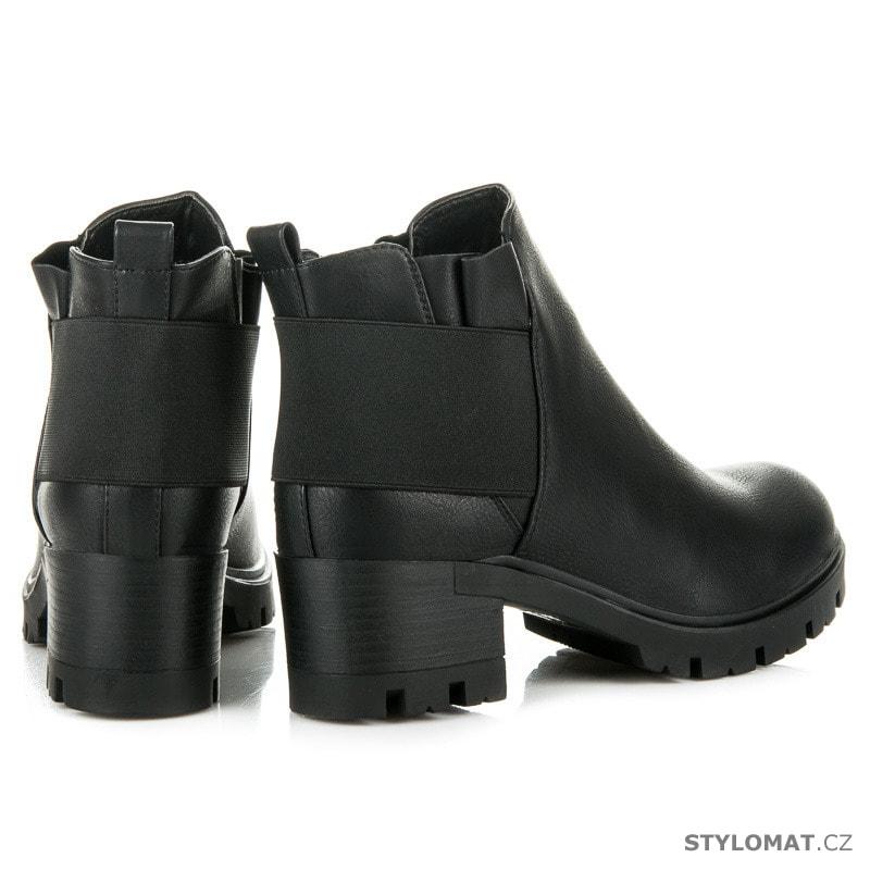 ... Dámská obuv    Kotníčkové boty    Pohodlné podzimní boty dámské černé.  Previous  Next 947b6ff94c