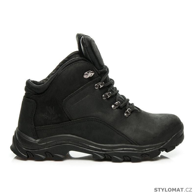 Kožené trekové boty černé - New age - Pánské kotníkové a farmářky 5e3683609d