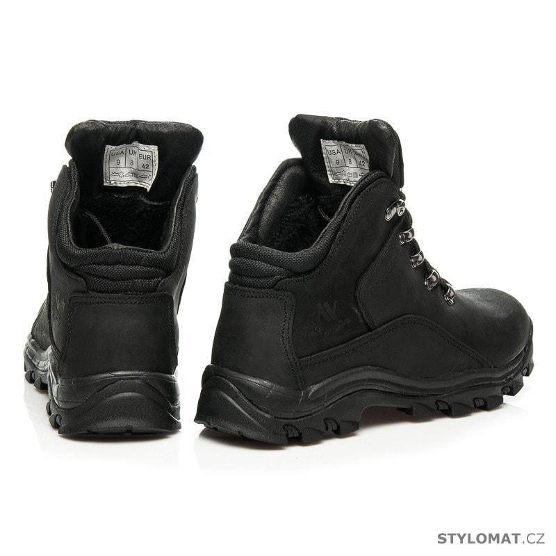 ... Pánské kotníkové a farmářky    Kožené trekové boty černé. Previous  Next 71f475231b