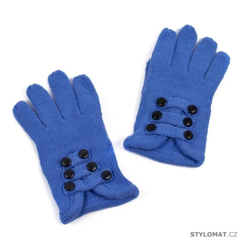 659c8ca3ace Módní rukavice zdobené knoflíčky modré - Art of Polo - Dámské rukavice