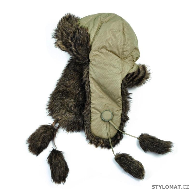 Trendy khaki ušanka - Art of Polo - Zimní dámské ušanky 5948dfd76e
