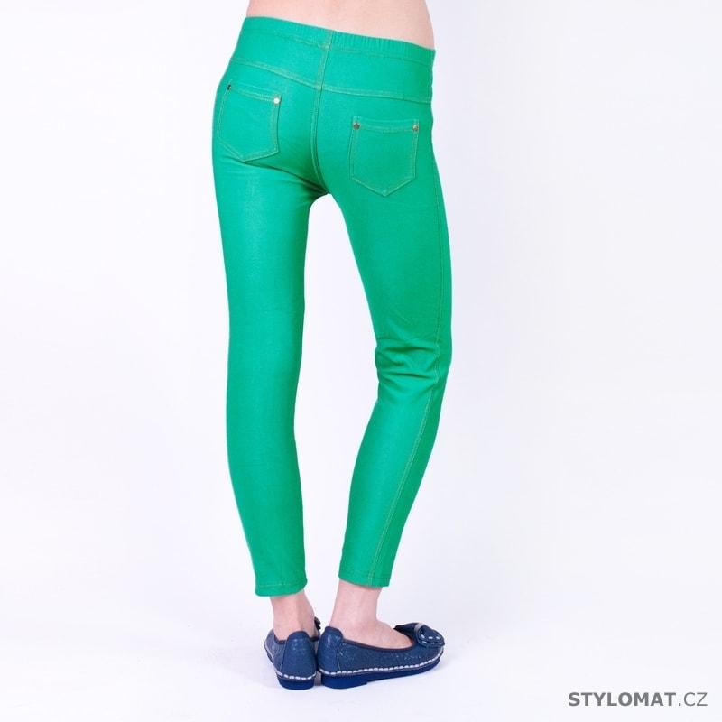 Zelené jeansové legíny - Art of Polo - Legíny 3dbdb8388c