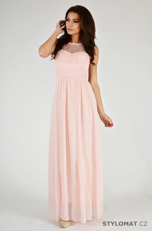 Krásné růžové plesové šaty - Eva Lola - Dlouhé společenské šaty 29f2a809d75