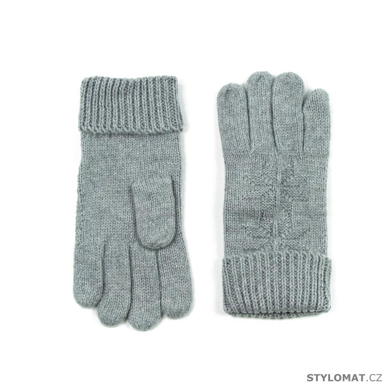f25aeffa796 Vlněné rukavice s hvězdou šedé - Art of Polo - Dámské rukavice