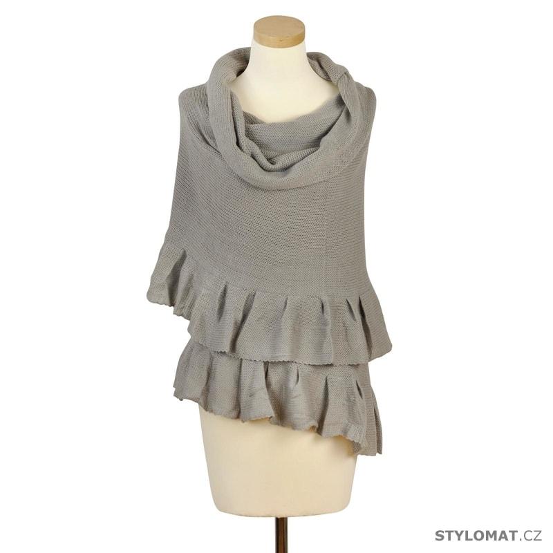 Vlněný šál šedý - Art of Polo - Dámské zimní šály bfae165b55