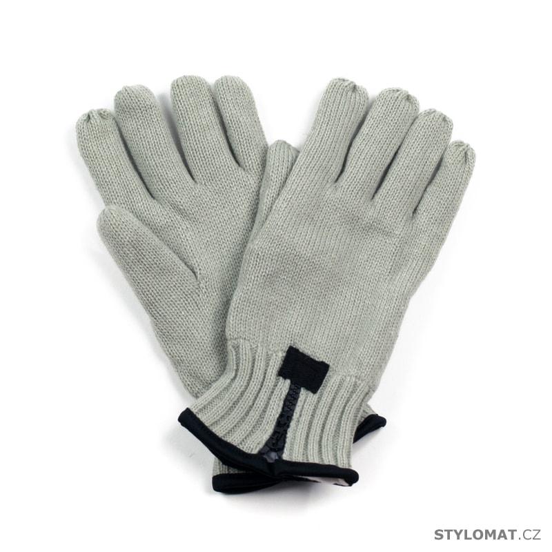 c25fe5dd3b6 Pánské pletené rukavice se zipem šedé - Art of Polo - Pánské rukavice
