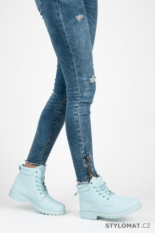 Dámské světle modré kotníkové boty trapery - SEASTAR - Workery ... f232868d5a