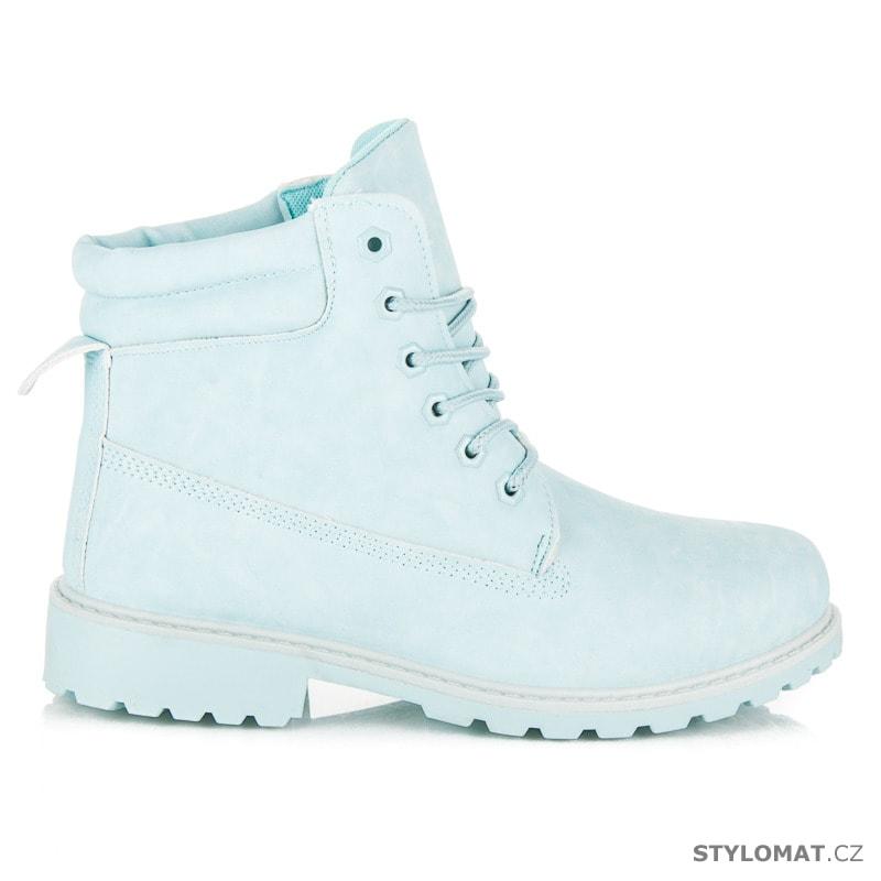 Dámské světle modré kotníkové boty trapery - SEASTAR - Workery ... 04fe910b85