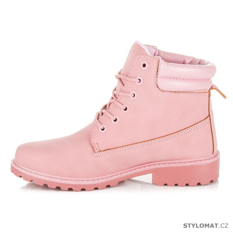 ... farmářky    Dámské světle růžové kotníkové boty trapery. Previous  Next cfdfd90bbd
