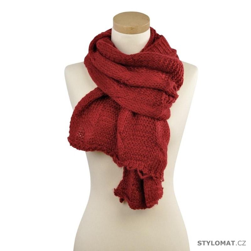 Zimní červený vlněný šál - Art of Polo - Dámské zimní šály 771efa5e37