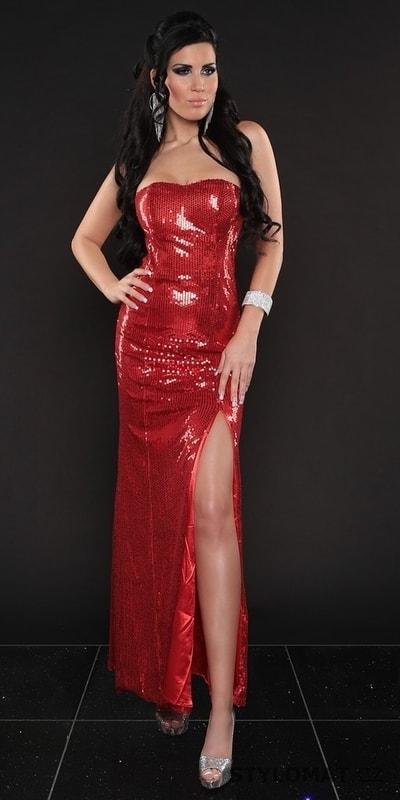 Červené dlouhé sexy šaty - Koucla - Dlouhé společenské šaty caca0b3e84