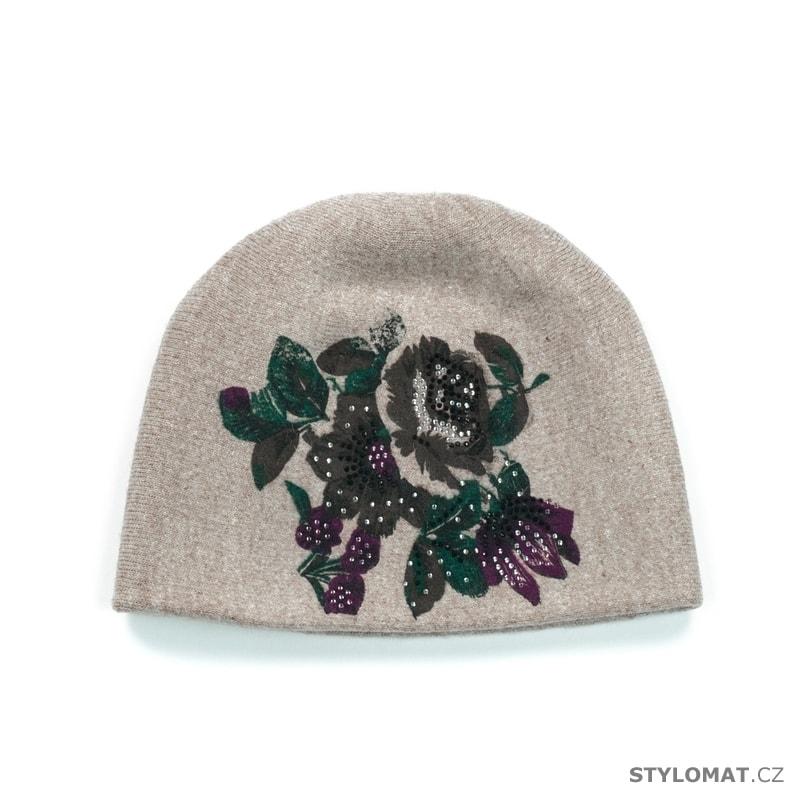 95be439332d Dámský luxusní vlněný klobouk s květy béžový - Art of Polo - Dámské ...