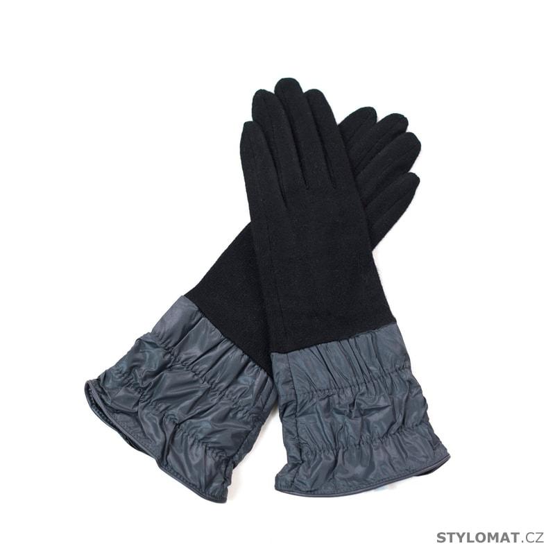 Elegantní rukavice šedočerné - Art of Polo - Dámské rukavice f8d016796b