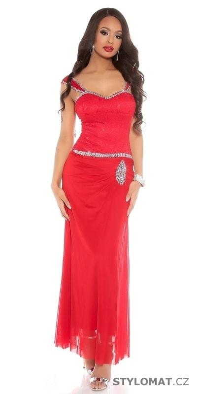 b143c947e9c Dlouhé večerní šaty červené - Koucla - Dlouhé společenské šaty