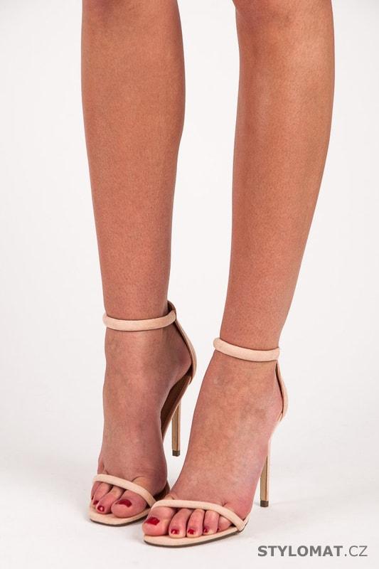 54028f924c8 Sandály na jehlovém podpatku růžové - SEASTAR - Sandále