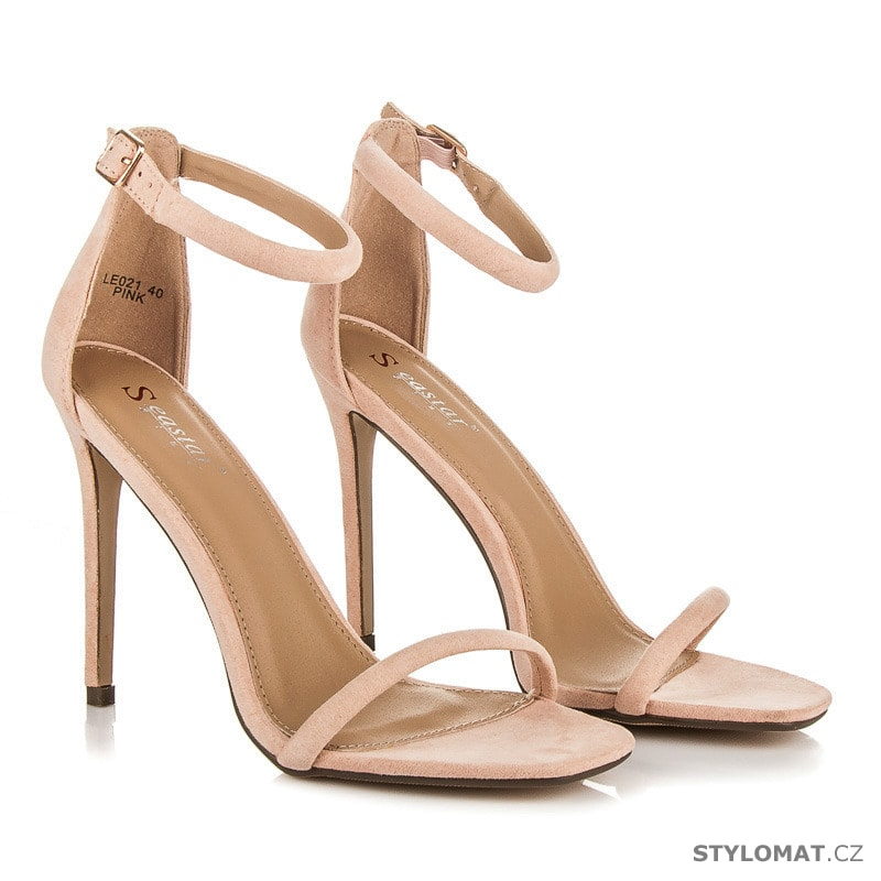 9eb498ce8fb ... Sandále    Sandály na jehlovém podpatku růžové. Previous  Next