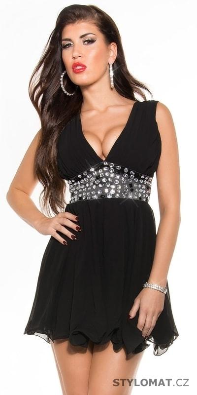 c2b6730b844 Černé dámské šaty - Koucla - Krátké společenské šaty