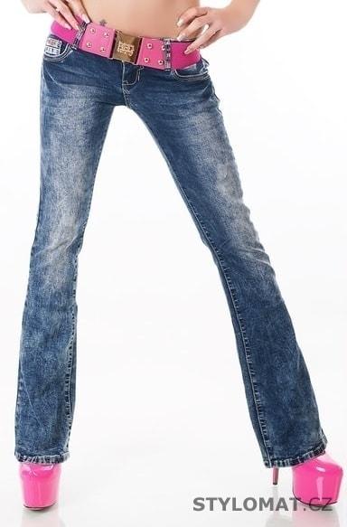 b8d9ab021ce Dámské plísňové džíny s páskem - EU - Jeansy
