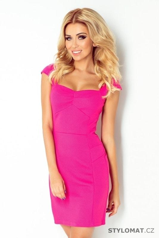 300087a978a Dámské elegantní a výrazné růžové šaty - Numoco - Party a koktejlové šaty