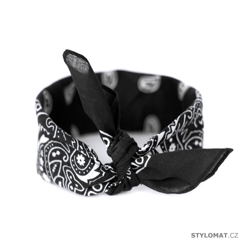 b1dfe48e833 Šátek do vlasů pin-up černý - Art of Polo - Dámské šály a šátky
