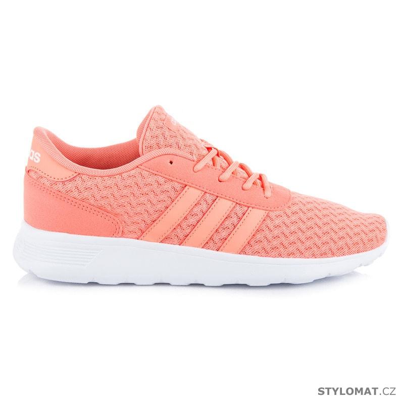 Meruňkové sportovní boty Adidas lite racer w - Adidas - Tenisky 4fbcf6b602