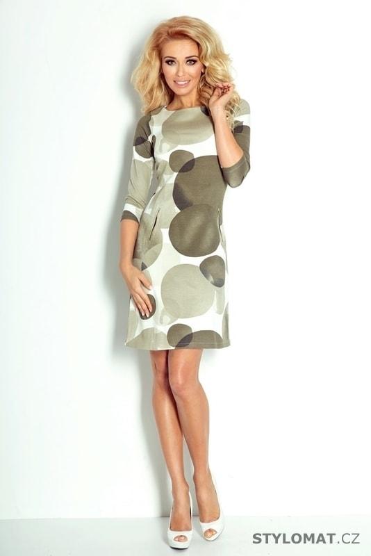 cd4185a9166 Dámské šaty s potiskem šedé - Numoco - Podzimní šaty