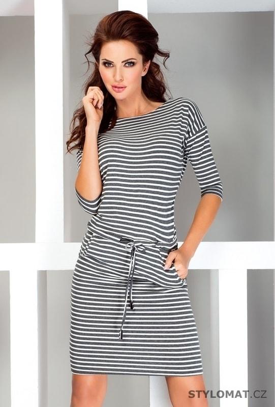 96619474efc Dámské letní pruhované šaty - Numoco - Jarní šaty