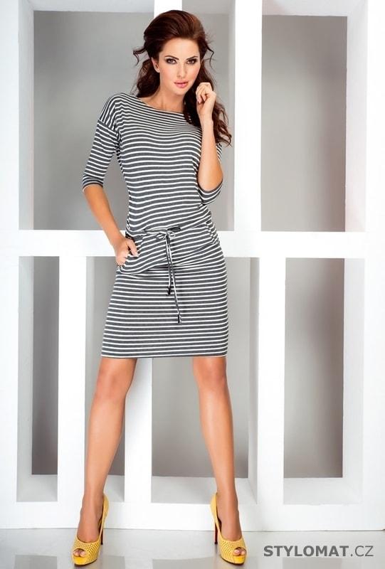 Dámské letní pruhované šaty - Numoco - Jarní šaty 719f544dd8