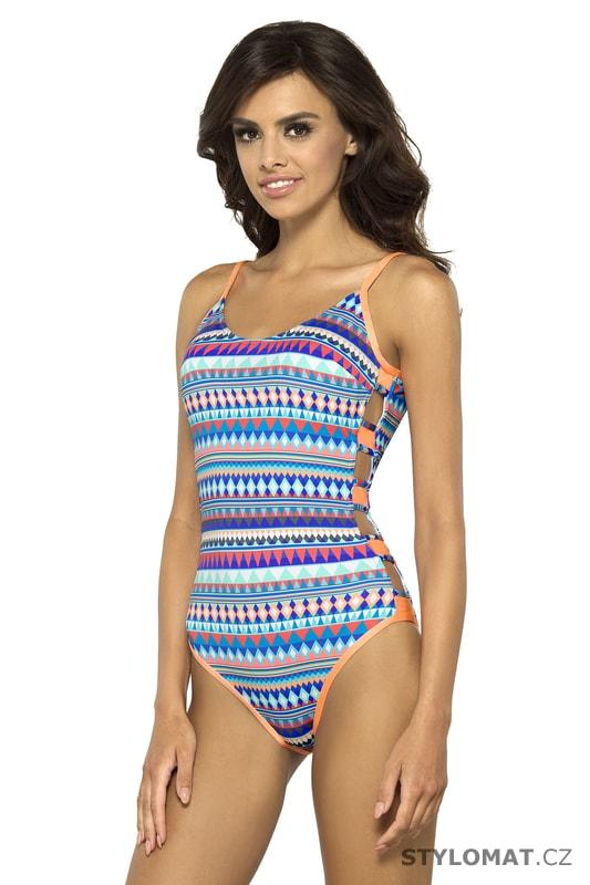 2b4c66878cc Jednodílné plavky Sarah pestrobarevné - Lorin - Jednodílné plavky