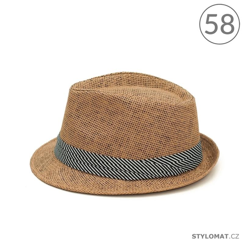 7b601d0ac34 Trilby klobouk s černo-bílou stuhou v hnědé barvě - Art of Polo ...