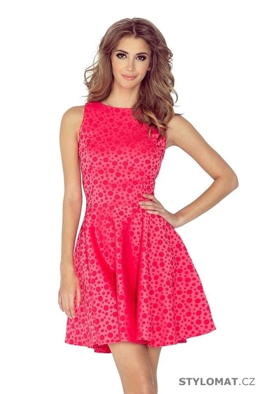 d5404ade19d Letní dámské šaty retro růžové - Numoco - Krátké letní šaty