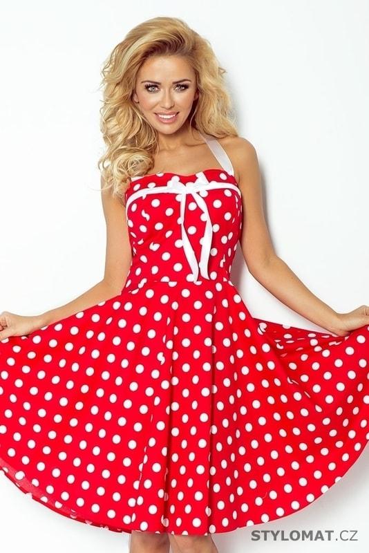 Retro šaty s puntíky 30-14 - Numoco - Krátké letní šaty a2d56742999