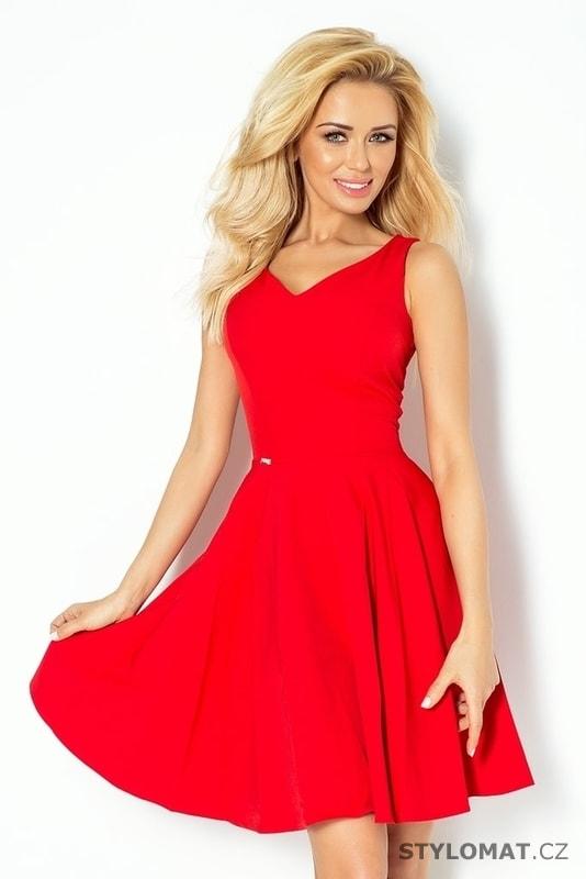Červené letní romantické šaty - Numoco - Krátké společenské šaty 77c80161e0