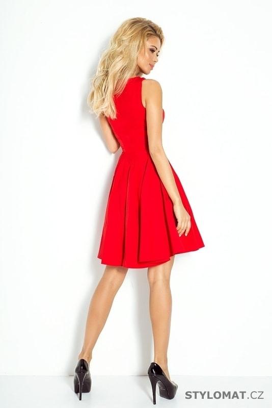 cfd8e5633b4 Červené letní romantické šaty - Numoco - Krátké společenské šaty