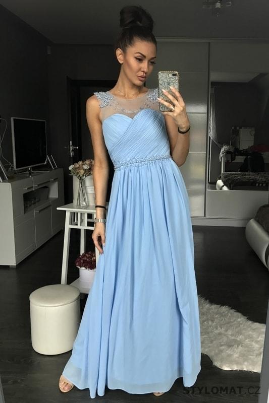 ... Dlouhé společenské šaty    Dámské plesové šaty světle modré. Previous   Next 2172cfbaaf