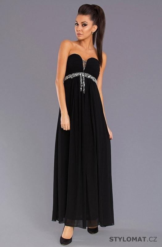 Dámské večerní šaty bez ramínek černé - Pink BOOm - Dlouhé společenské šaty 67f26edde6