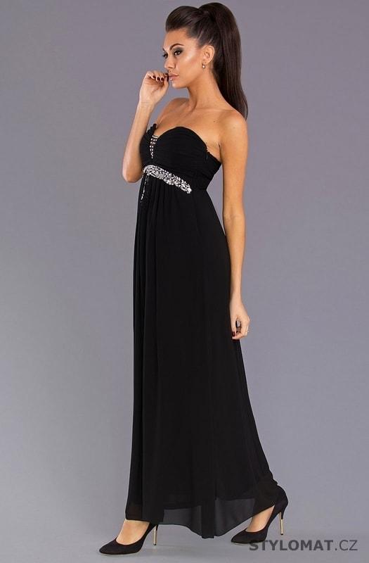 Dámské večerní šaty bez ramínek černé - Pink BOOm - Dlouhé ... f63be08613