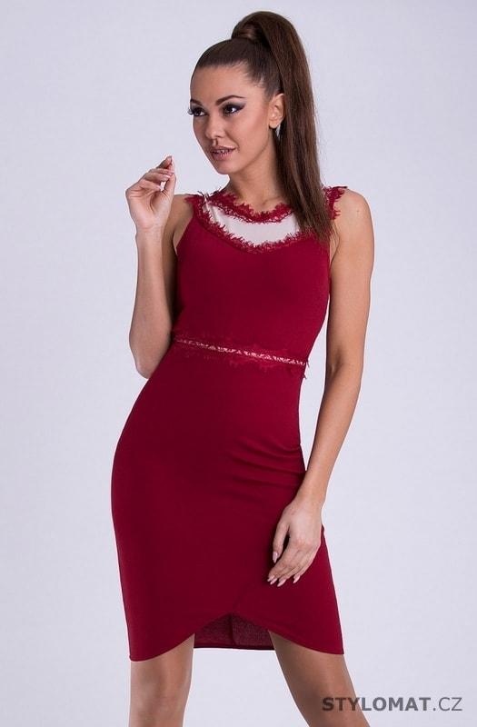 Dámské pouzdrové šaty červené - Emamoda - Krátké společenské šaty 4e925f59f4