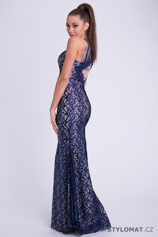 d0d9abbb22a Dlouhé plesové šaty s krajkou modré - Your New Style - Dlouhé společenské  šaty