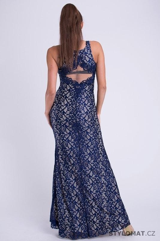 0a51df93d8a ... Dlouhé plesové šaty s krajkou modré. Previous  Next
