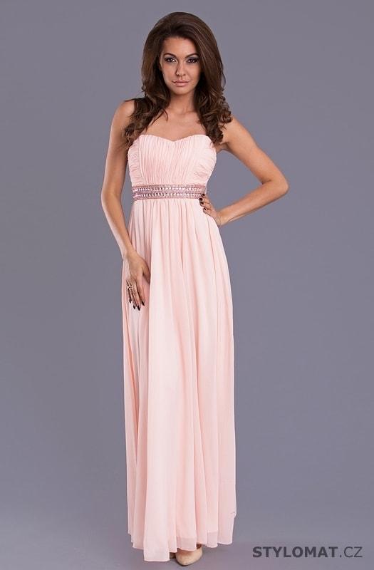 ... Dlouhé plesové šaty s řaseným vzhledem světle růžové. Previous  Next 53d28bab3e