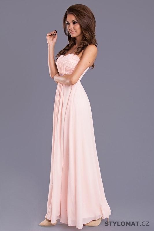 5d8d4815dbb ... Dlouhé plesové šaty s řaseným vzhledem světle růžové. Previous  Next