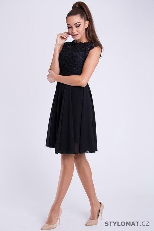 c292d6deabe Krátké společenské šaty s krajkovým vrškem černé. Zvětšit. - 3%. Previous   Next