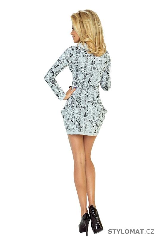 5ba953bbf12 Dámské šaty s kapsami a rolákem šedé - Numoco - Jarní šaty