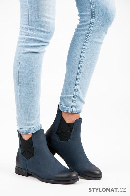Tm. modré pérka - Vinceza - Kotníčkové boty 6cb9748484